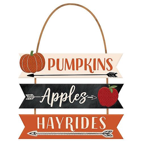 Pumpkins, Apples & Hayrides Stacked Sign Image #1