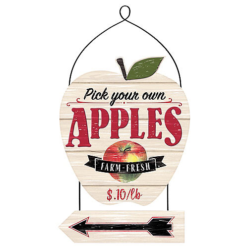 Pick Apples Stacked Sign Image #1
