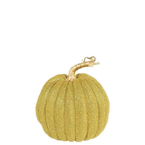 Glitter Gold Pumpkin Decoration Image #1