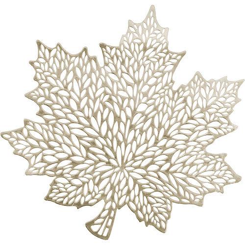 Metallic Gold Harvest Leaf Vinyl Placemat Image #1