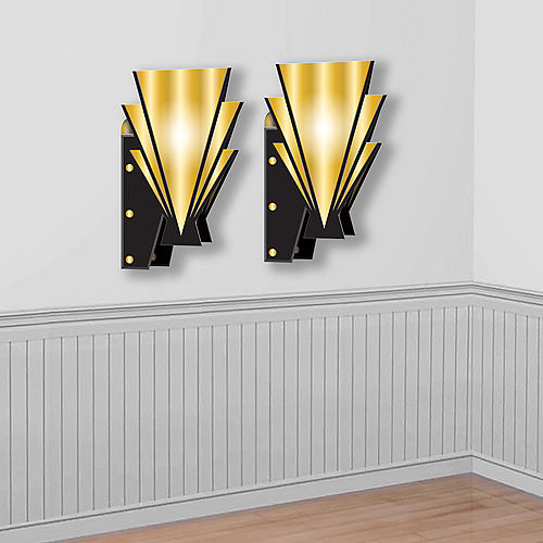 Roaring 20s Wall Sconces 2ct Image #1