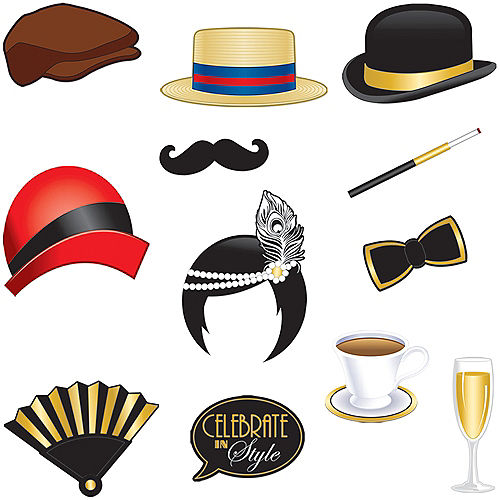 Roaring 20s Photo Booth Props 12ct Image #1