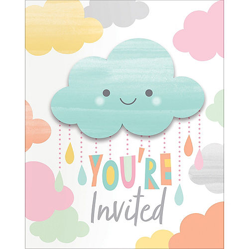 Nav Item for Happy Clouds Invitations 8ct Image #1