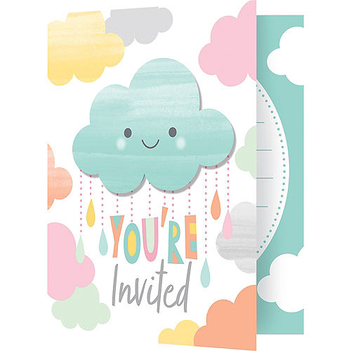 Happy Clouds Invitations 8ct Image #2