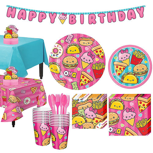 Junk Food Fun Tableware Party Kit for 16 Guests Image #1