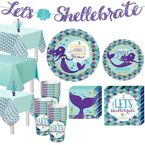 Wishful Mermaid Basic Party Kit for 24 Guests Image #1