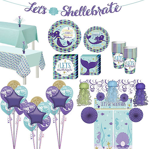 Wishful Mermaid Ultimate Party Kit for 16 Guests Image #1