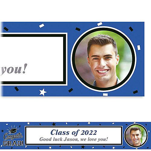 Custom School Colors Pride Blue Photo Banner  Image #1