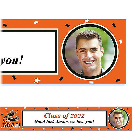 Custom School Colors Pride Orange Photo Banner  Image #1