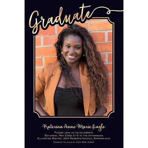 Custom Golden Graduate Photo Invitation  Image #1