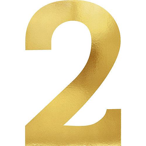 Metallic Gold Number 2 Cutouts 6ct Image #1