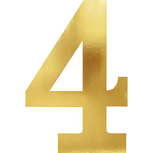 Metallic Gold Number 4 Cutouts 6ct Image #1