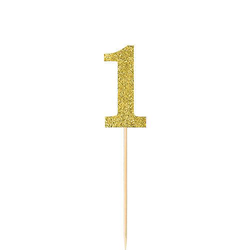 Glitter Gold Number 1 Picks 4ct Image #1