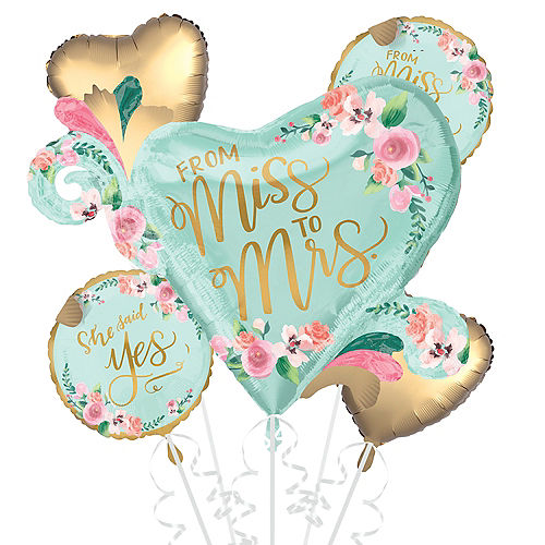 Mint to Be Bridal Shower Balloon Bouquet 5pc Image #1