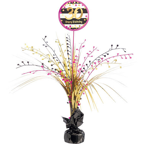 Pink & Gold 30th Birthday Party Kit for 32 Guests Image #9