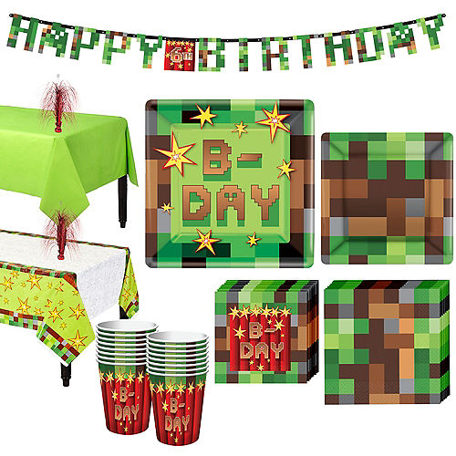 Pixelated Basic Party Kit for 16 Guests Image #1