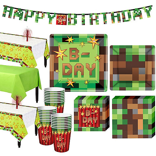 Pixelated Basic Party Kit for 24 Guests Image #1