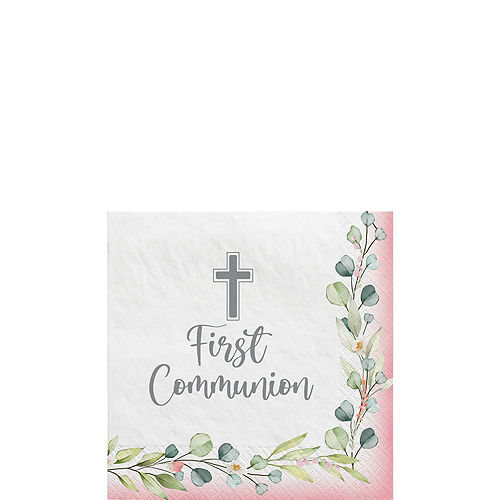 Girl's First Communion Tableware Kit for 36 Guests Image #4