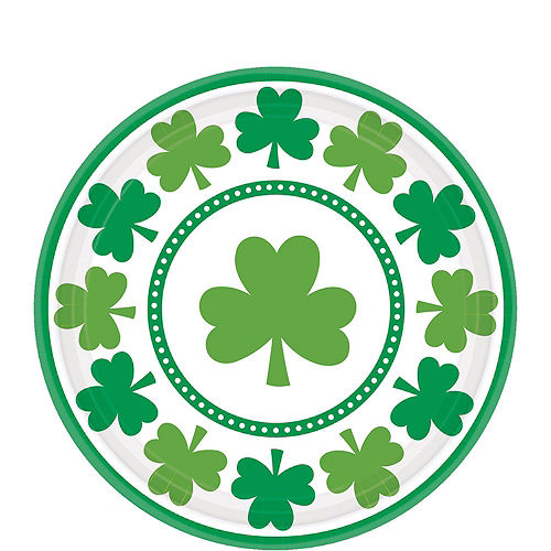 Lucky Shamrock Value Tableware Kit for 32 Guests Image #2