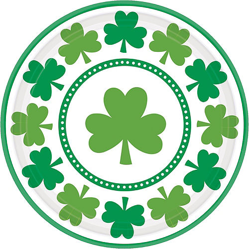 Lucky Shamrock Value Tableware Kit for 32 Guests Image #3