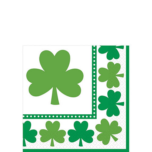 Lucky Shamrock Value Tableware Kit for 32 Guests Image #4