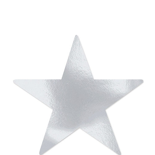Large Silver Star Cutouts 12ct Image #1