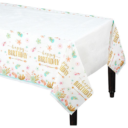 Boho Girl Paper Table Cover Image #1