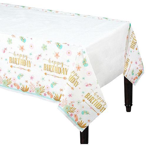 Boho Girl Paper Table Cover Image #1