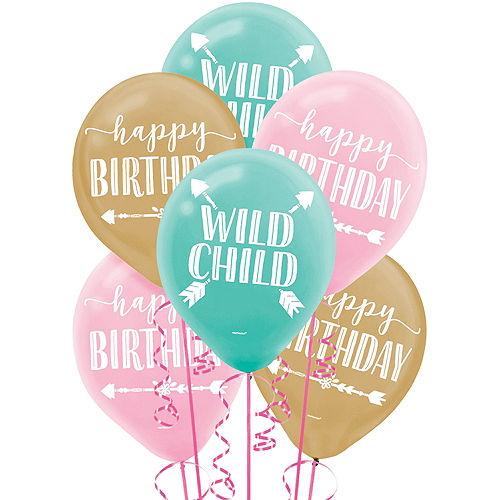 Boho Girl Balloons 15ct Image #1
