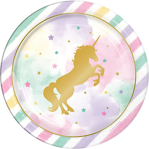 Sparkling Unicorn 1st Birthday Deluxe Party Kit for 32 Guests Image #3