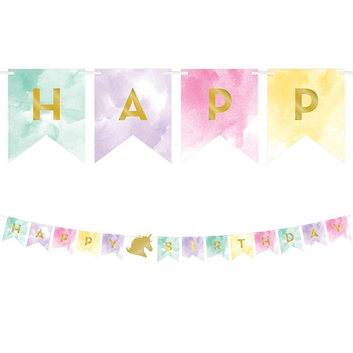 Sparkling Unicorn 1st Birthday Deluxe Party Kit for 32 Guests Image #13