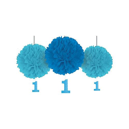 Blue & Gold 1st Birthday Decorating Kit Image #3