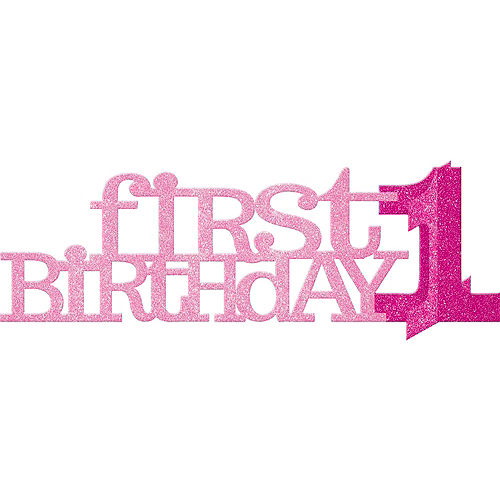 Pink & Gold Confetti Premium 1st Birthday Party Kit for 16 Guests Image #8