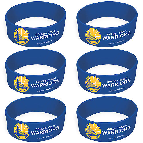 Golden State Warriors Wristbands 6ct Image #1