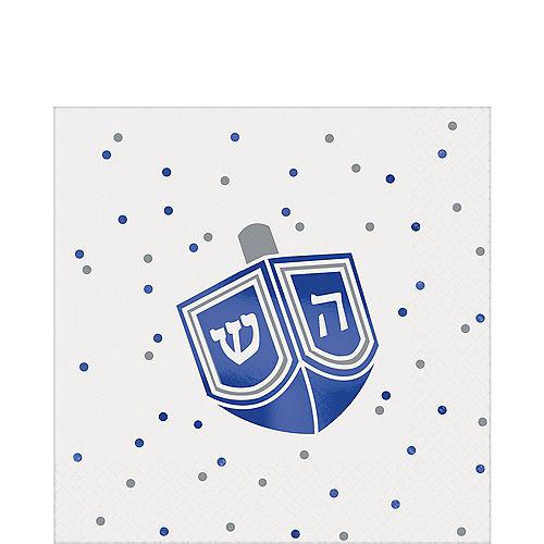 Happy Hanukkah Dreidel Beverage Napkins 16ct Image #1