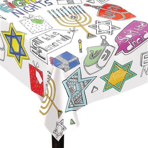 Coloring Hanukkah Paper Table Cover Image #1