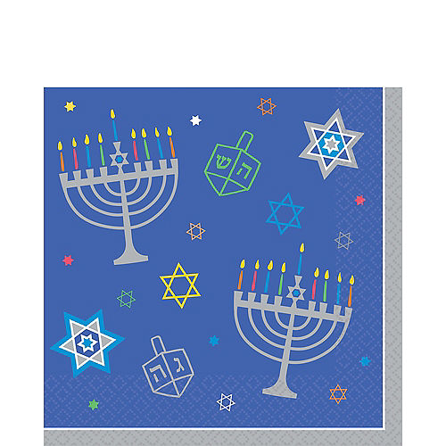 Eight Happy Nights Lunch Napkins 36ct Image #1