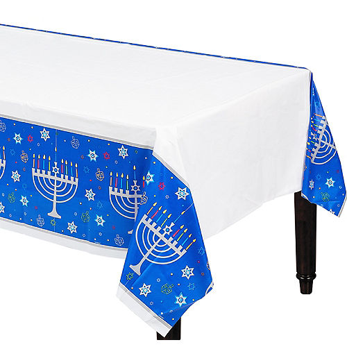 Eight Happy Nights Plastic Table Cover Image #1