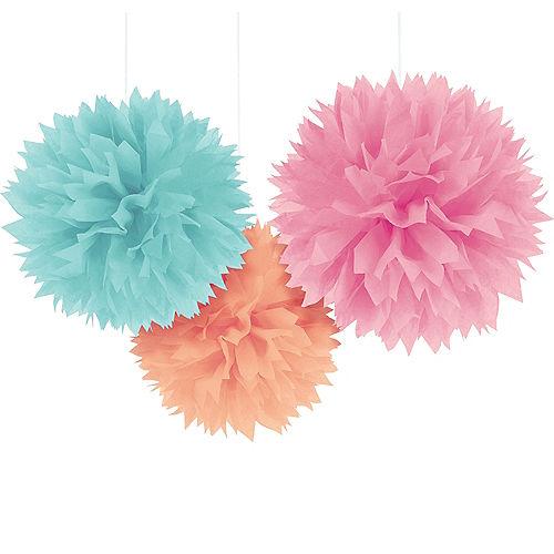 Pastel Tissue Pom Poms 3ct Image #1