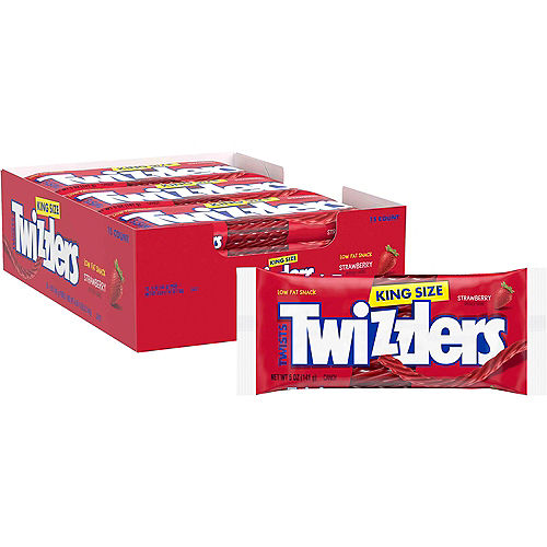 Strawberry Twizzlers King Size Pouches 15ct Image #1