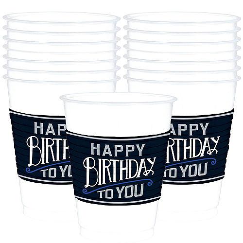 Happy Birthday Classic Plastic Cups 25ct Image #1