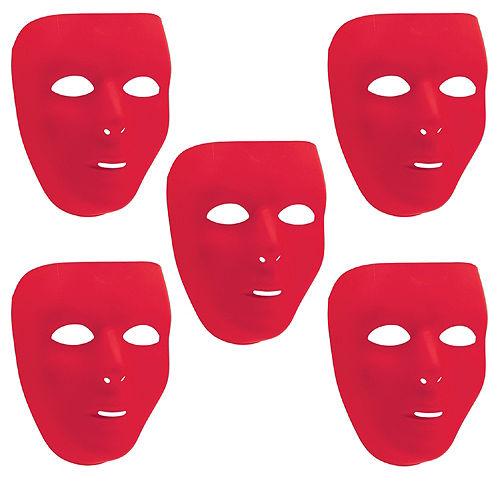Red Face Masks 10ct Image #1