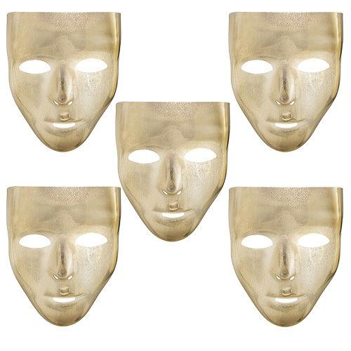 Gold Face Masks 10ct Image #1