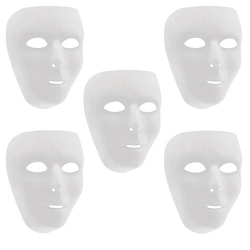 White Face Masks 10ct Image #1