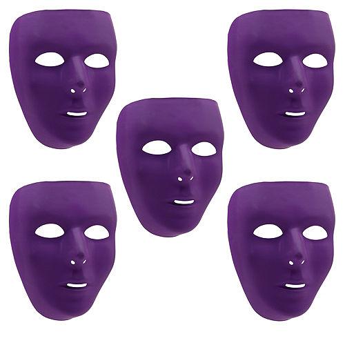 Purple Face Masks 10ct Image #1