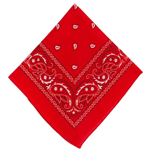 Red Paisley Bandanas, 20in x 20in, 10ct Image #2