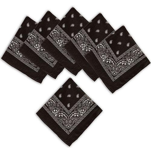 Black Paisley Bandanas, 20in x 20in, 10ct Image #1