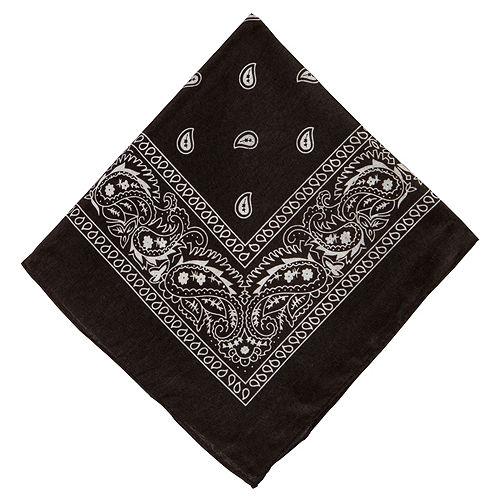Black Paisley Bandanas, 20in x 20in, 10ct Image #2