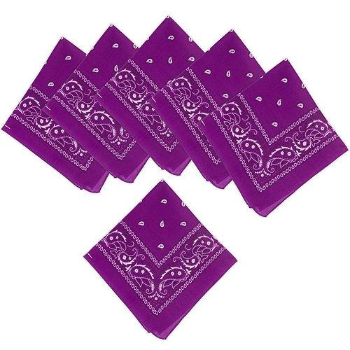 Purple Paisley Bandanas, 20in x 20in, 10ct Image #1