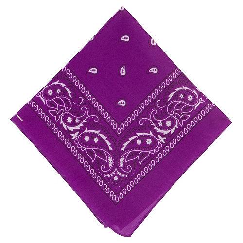 Purple Paisley Bandanas, 20in x 20in, 10ct Image #2